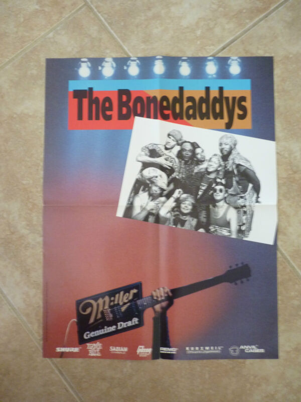 The Bonedaddys Re-funkifying the Face of Pop First Draft Music Mag Poster Miller