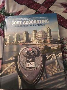 Cost accounting - a managerial emphasis -obo