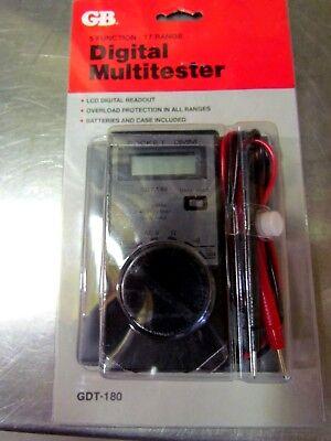 Gb Digital Pocket Dmm Multitester Multimeter Gdt-180 500v 5 Function 17 Range