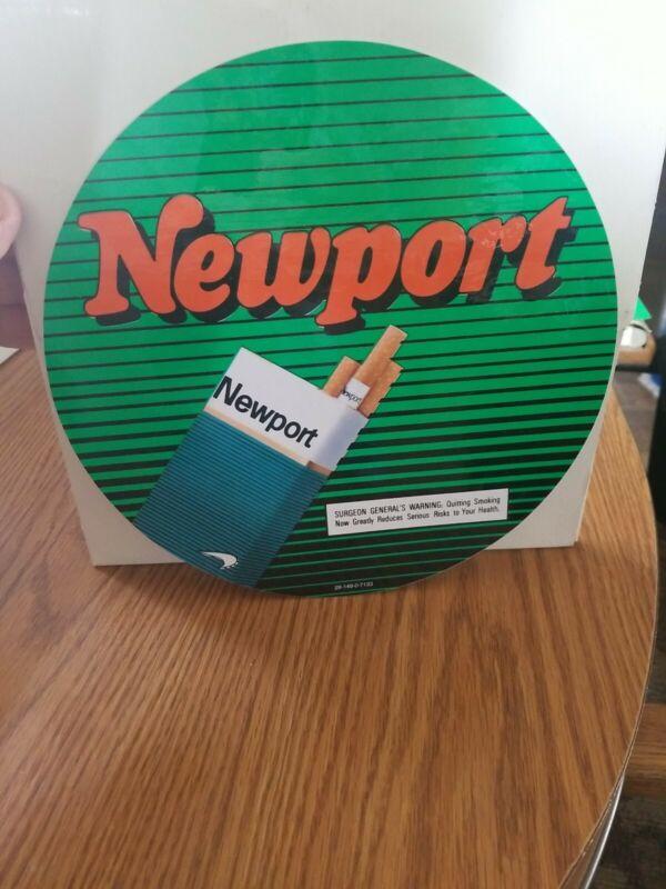 Newport cigarettes smoking tobacco store window sticker bar sign new