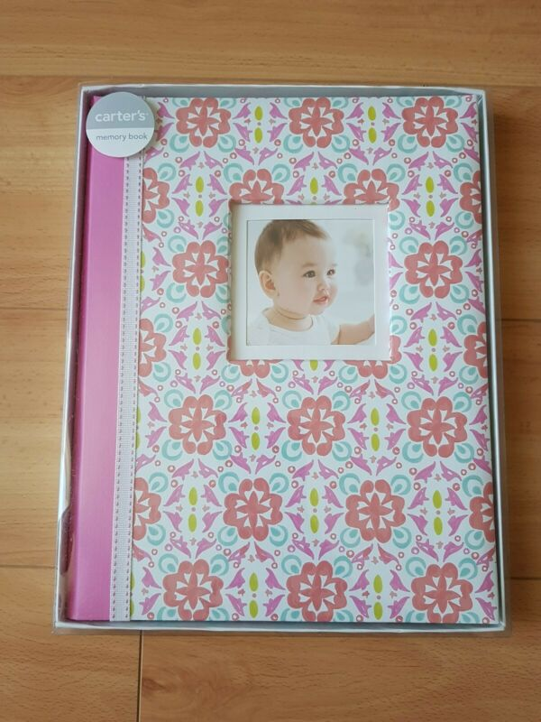 NEW CR Gibson Pretty Pattern Baby Girl Memory Keepsake Book Pink