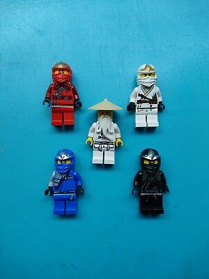 Lego Ninjago Lot of 5 Minifigures Jay Cole Zane Kai Sensei Wu Ninjas!