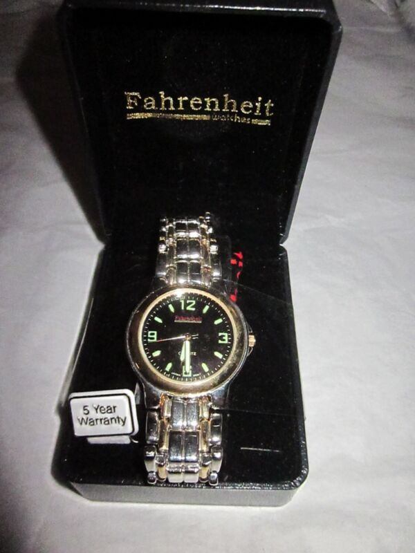 FAHRENHEIT Men's Battery Wristwatch NIB