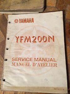 1984 Yamaha YFM200N Service Manual