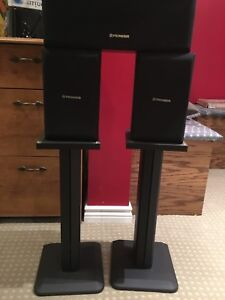 Surround Speakers- Pionneer with Stands