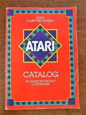 1981 Atari Video Computer System 45 Games Cartridge Catalog Program Booklet
