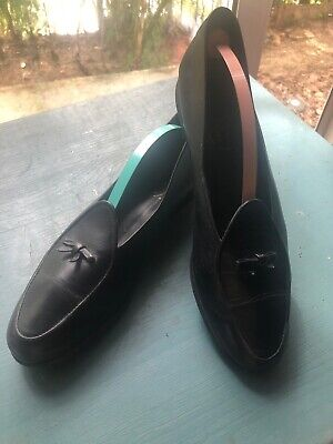 """Belgian Shoes Women's Black Leather """"Travelette"""" Size 8.5 Fits A USA 9.5"""