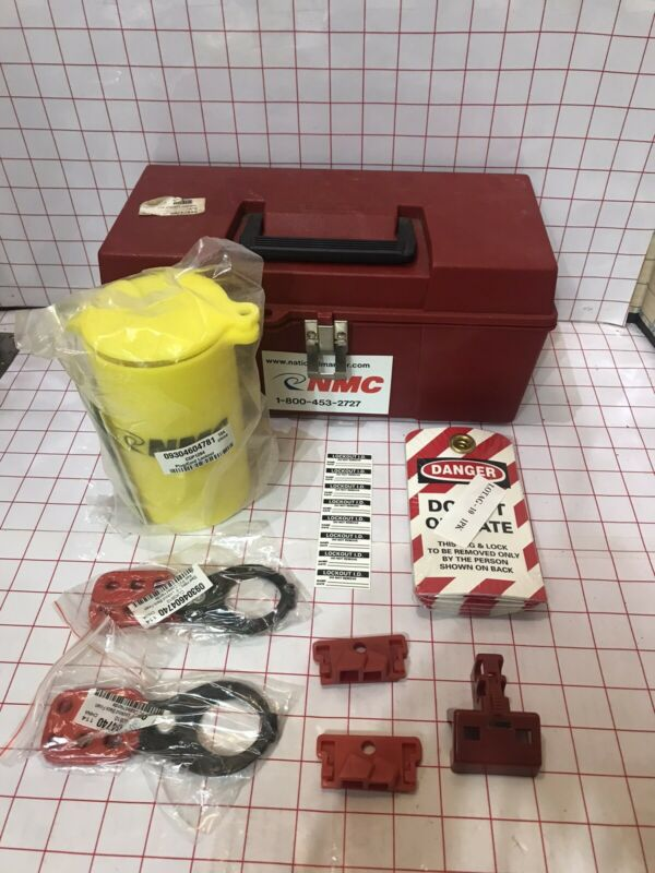 NMC ELOK1 Economy Electrical Tagout Lockout Kit with Box  Safety Equipment