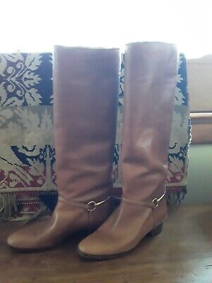 Vintage Leather Boots 35 Snaffle Bit