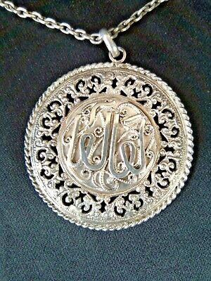 Antique pendant berber silver watermarked