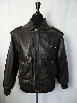 Men's Vintage Leather 1980's A2 Flying Jacket 42R (M)