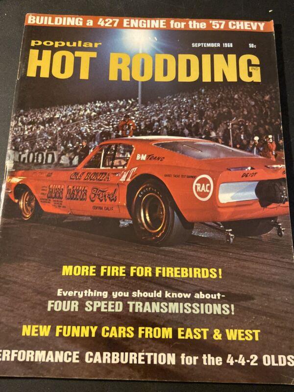 Popular Hot Rodding~ September 1968 More Fire For Firebirds!