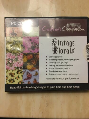 Crafter's Companion - Vintage Florals PC CD ROM Card Making Craft Crafting NEW