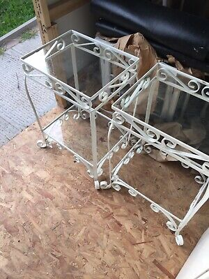 Two Vintage Wrought Iron Plant Stands