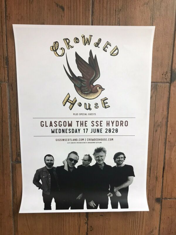 Original Crowded House 2020 Concert Poster