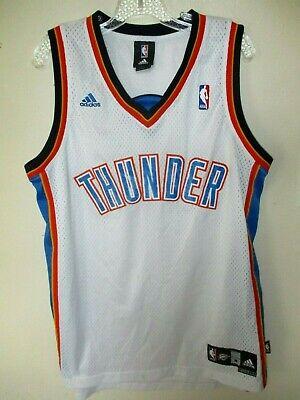 Oklahoma City THUNDER NBA BASKETBALL JERSEY Adult M +2 White SEWN! No Player