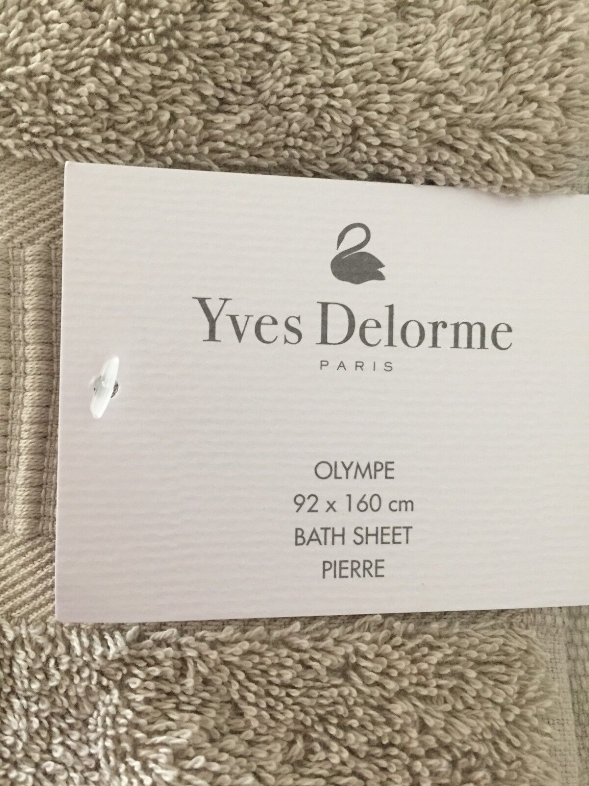One Yves DeLorme OLYMPE PIERRE Bath Sheet Brand Brand New 3