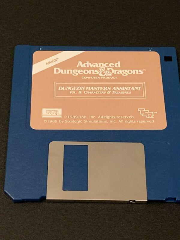 1989 Masters Assistant II Characters Advanced Dungeons Dragons Amiga SSI