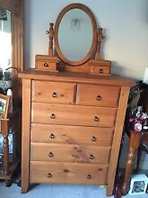 Tallboy with mirror and bedside table Camden Camden Area Preview