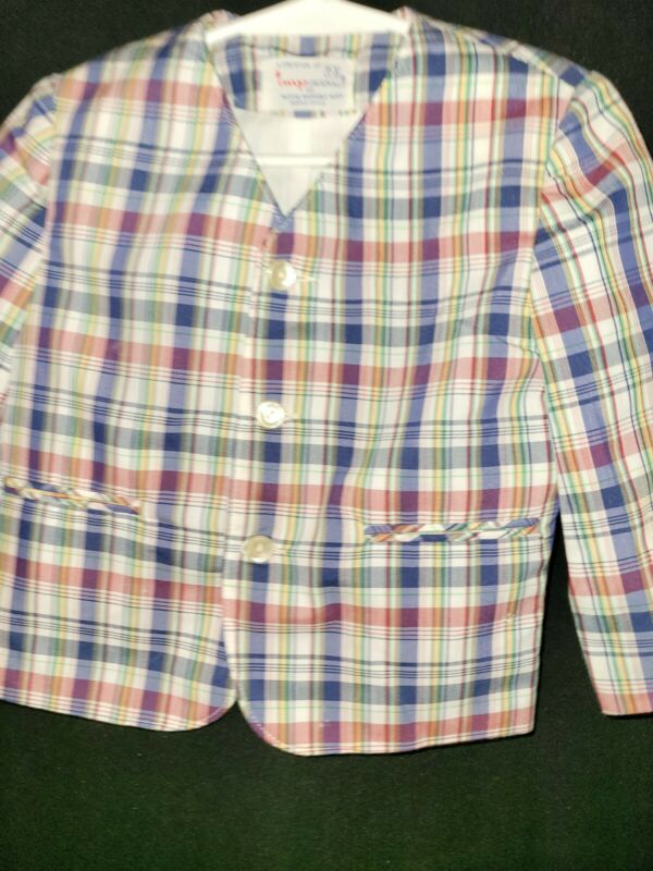 Vintage Imps Originals Boys Blazer Jacket Size T3 Multicolored Plaid