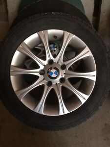 Snow tires and rims to fit BMW 328 xdrive