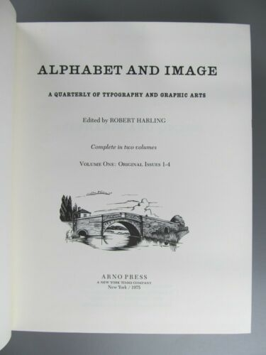 Alphabet and Image: A Quarterly of Typography and Graphic Arts, Reprint Complete