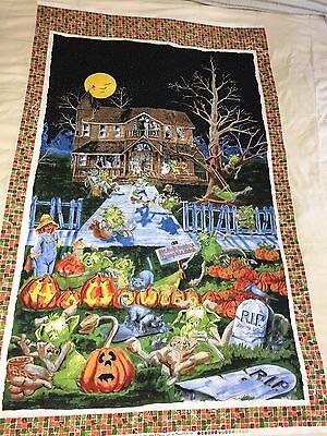 Maywood SPELLBOUND Hobgoblin Goblin Home For The Holiday Halloween Fabric Panel - Home For Halloween