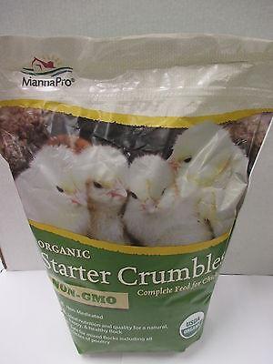 Chick Starter Feed - Organicnon Gmocrumbles - 5 Pound Bag - Manna Pro