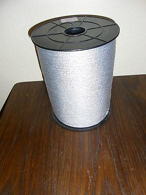 (0,05€/m) rohweiß/silber Schlauch Borte, Höhe ca.0,8cm 750m auf der Rolle