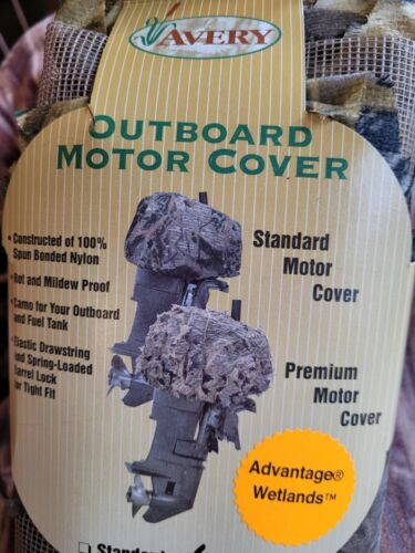 Avery Outboard Motor Cover Wetland Camo Nylap Netting