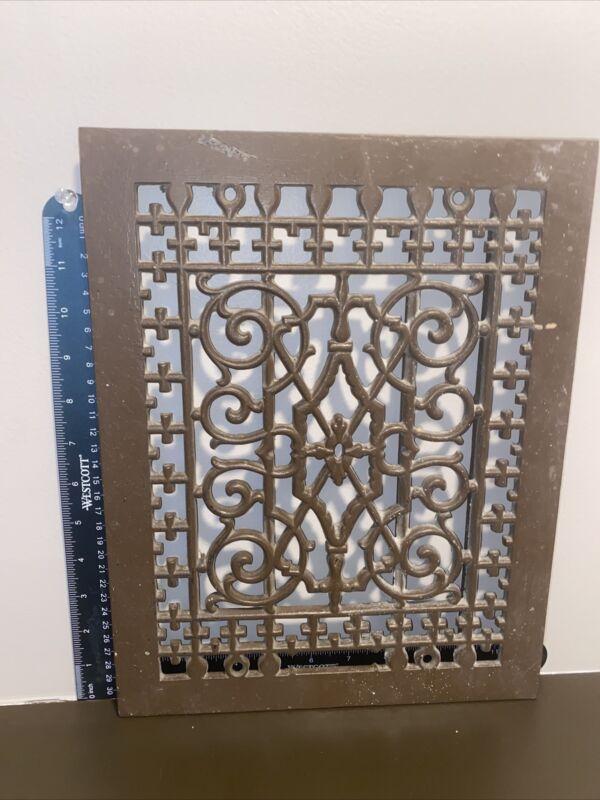 Antique Cast Hot Air Furnace Floor Wall Heat Register Grate Vent HVAC Iron