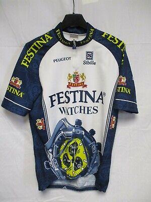 Maillot cycliste FESTINA Tour de France 1996 Virenque maglia shirt Peugeot XXL