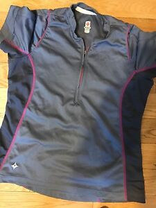 SPECIALIZED WOMANS CYCLING JERSEY - GREY AND PINK