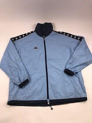 VTG Kappa Men's Tape Logo Long Sleeve Full Zip Track Jacket Size XL RARE