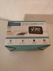 Smart Phone Charging Atomic Digital Alarm Clock Large LED Numbers La Crosse
