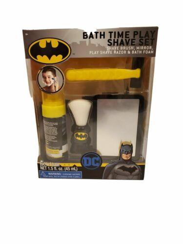 NEW DC Comics Batman Bath Time Play Shave Set Toy Razor,Brush,Bath Foam & Mirror