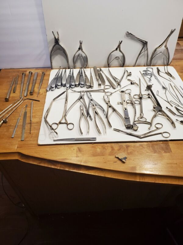 Antique Vintage Medical Surgical Lot of 50+ Tools Instruments