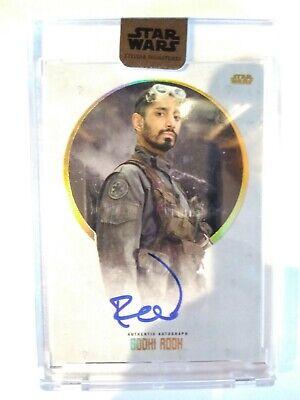 2017 Topps Star Wars Stellar Riz Ahmed Base Autograph 37/40 Bodhi Rook