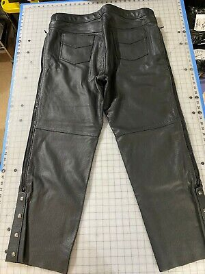 motorcycle overpants by Joe Rocket, perforated black leather size 44