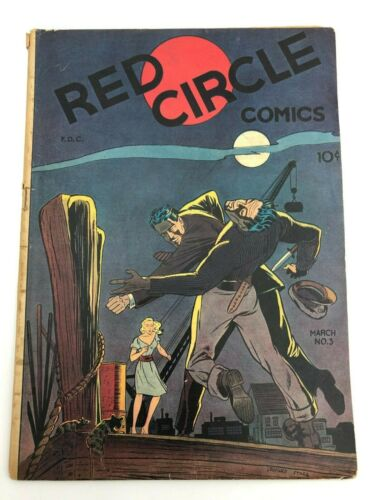 Red Circle Comics #3 (1945) Rural Home Publishing Comic Book Crime Golden Age