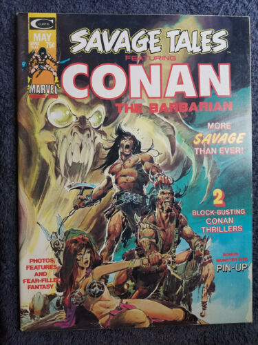Savage Tales Featuring Conan The Barbarian #4 B&W Marvel Magazine 1974