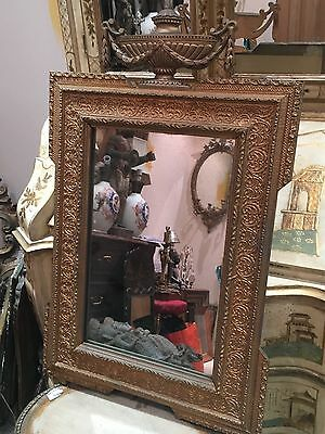 Antique French Classical Gilt Mirror With Original Glass