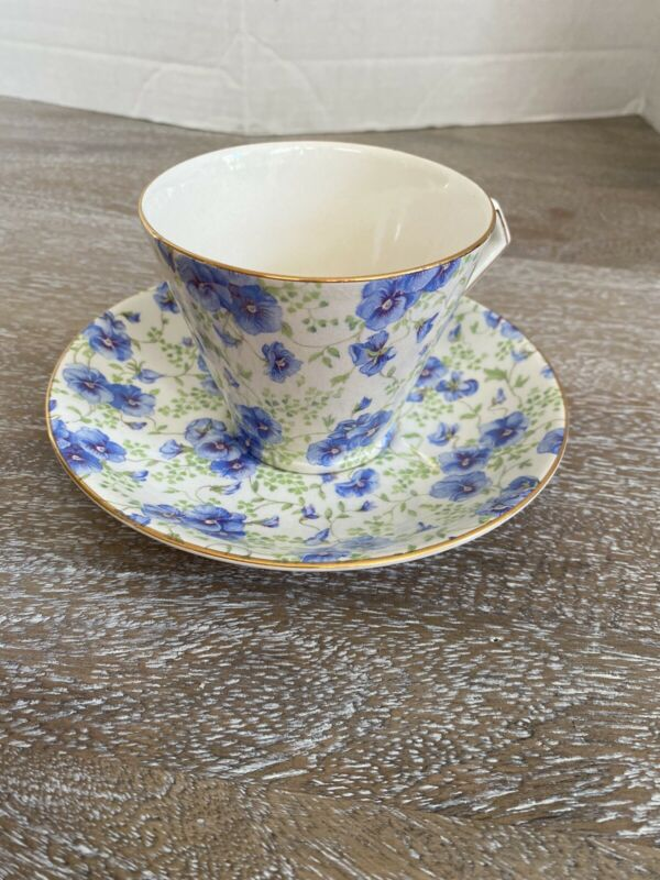 """Lord Nelson Ware Chintz Teacup And Saucer """"Pansy"""""""