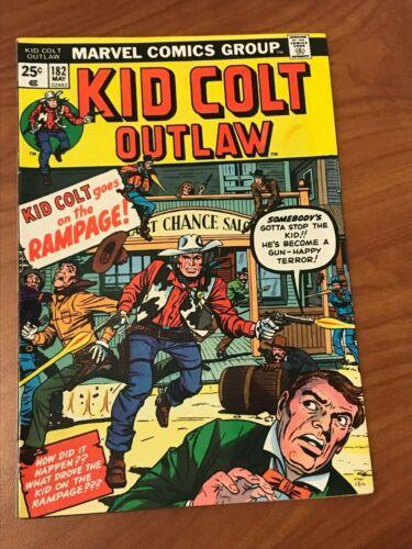 Kid Colt Outlaw #182 Marvel Comics 1974 VF