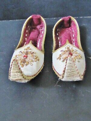 Small Handmade * Ali Baba Aladdin Genie Eastern Shoes THEATRE / PANTOMIME (Aladdin Pantomime Kostüm)