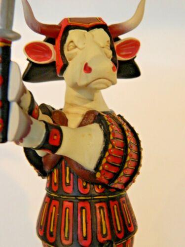 2002 COW PARADE Figure SAM MOO RAI Samurai New Old Stock Japanese Warrior