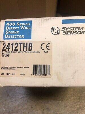 System Sensor 2412thb Smoke Detector Fire Alarm