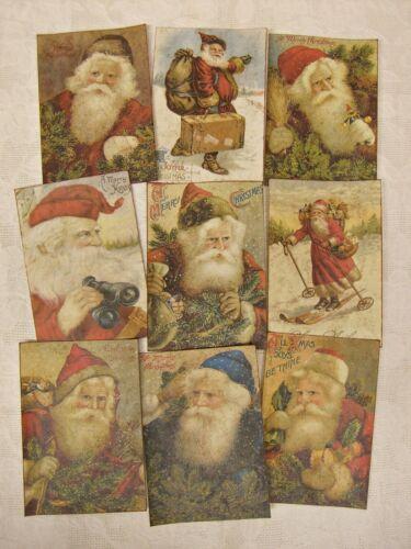 Set of 18 VINTAGE LOOK CHRISTMAS LABELS VICTORIAN SANTA Primitive/Grungy