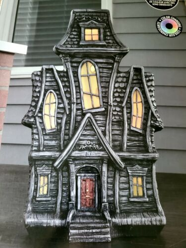 HALLOWEEN HAUNTED HOUSE BLOW MOLD Motion Sensor Animated Light and Sound