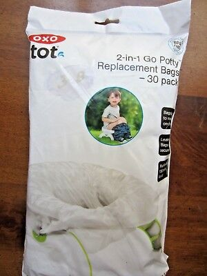 Go Potty 2 in 1 Replacement Bags, pack of 30 leak Proof & easy open by OXO